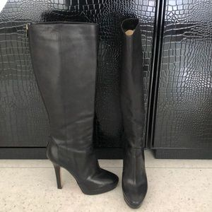 Jimmy choo leather knee high boots